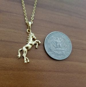18K Gold Filled Horse Necklace